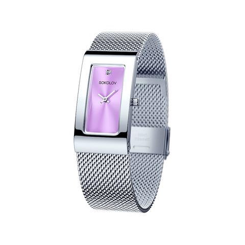 307.71.00.000.02.01.2 - Женские стальные часы-браслет с лавандовым корпусом