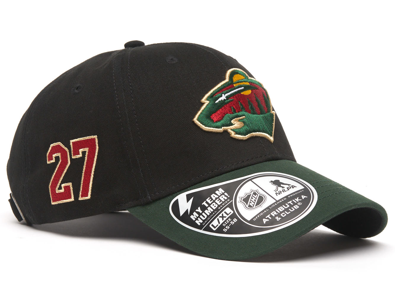 Бейсболка NHL Minnesota Wild № 27