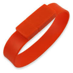 Силиконовая флешка -оранжевая  512 mg