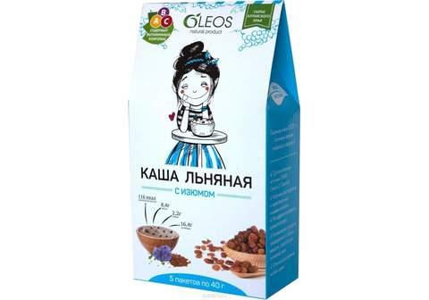Каша льняная с изюмом 5 пак по 40г(200г), Oleos купить в Ростове