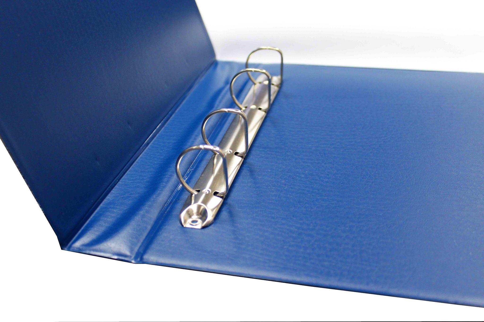 Папка с кольцевым механизмом. Оптима (цвет синий)