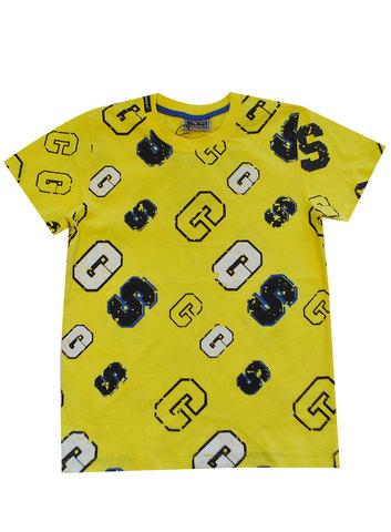 Футболка для мальчика желтая (116-134) купить в ассортименте