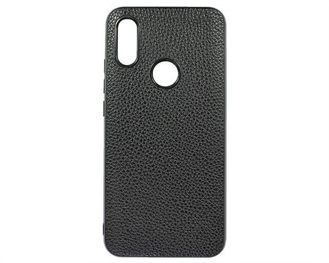 Чехол для Xiaomi Redmi 7/Redmi Y3 экокожа | черный