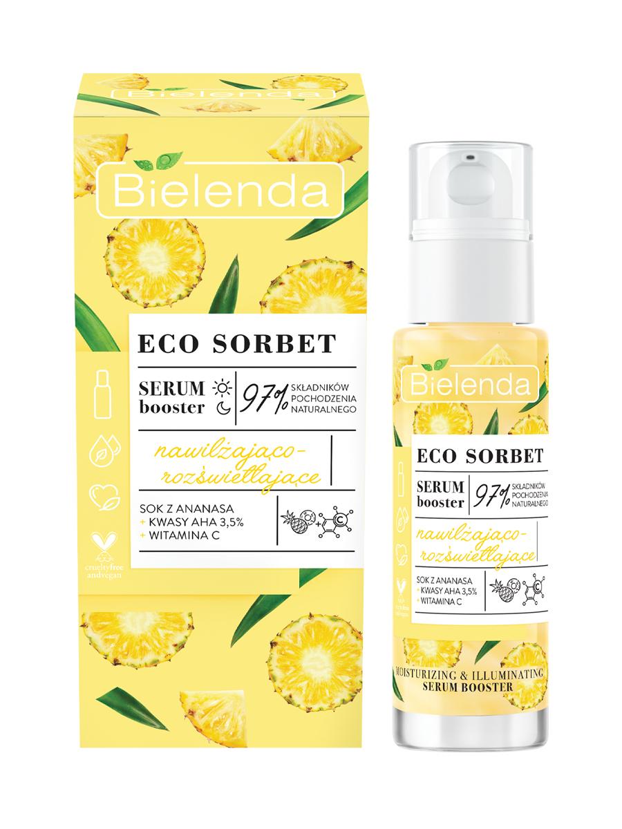 ECO SORBET Pineapple Сыворотка увлажняющая с эффектом осветления, 30 мл