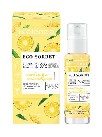 ECO SORBET Pineapple Сыворотка увлажненяющая с эффектом осветления, 30 мл