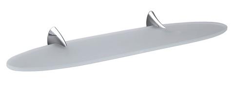 Полка стеклянная 65см Colombo Link  B2416, хром