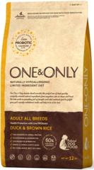 Корм для взрослых собак всех пород, ONE&ONLY Duck & Rice Adult All Breeds, с уткой и рисом