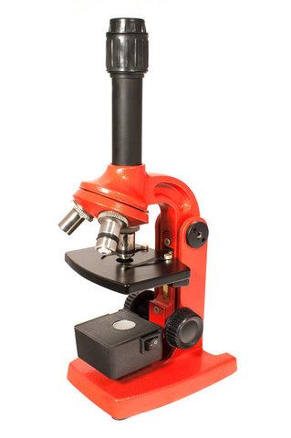 Микроскоп Юннат 2П-3 с подсветкой Красный