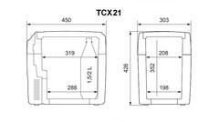 Термоэлектрический автохолодильник Dometic TropiCool TCX-21 (12V/24V/220V, 20л)