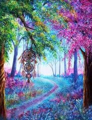 Алмазная Мозаика 30x40 Ловец снов в лесу
