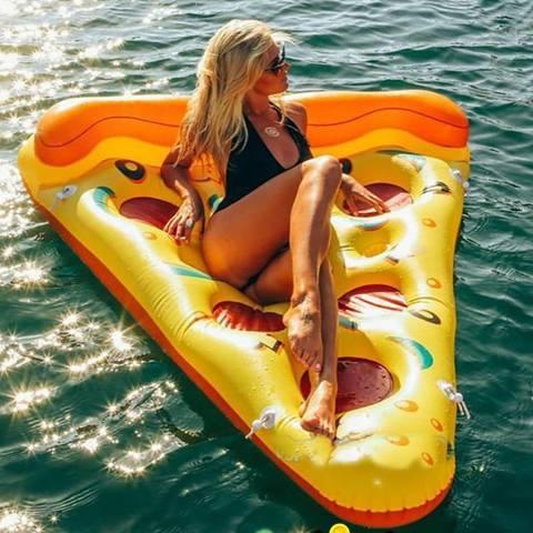 Надувной матрас пицца желтый