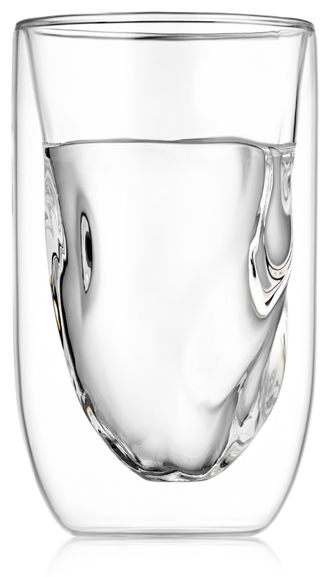 Стаканы (двойной стакан) Стакан с двойными стенками SETI Glaffe рельефный, скрученной формы, 300 мл 2-104-350-SETI-Glaffe-teastar3.PNG