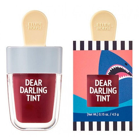 Увлажняющий гелевый тинт для губ Etude House Dear Darling Water Gel Tint Shark Red акулий красный 4,5 гр