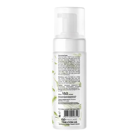 Пінка для вмивання Розмарин-Молочна кислота для комбінованої шкіри Tink 150 мл (4)