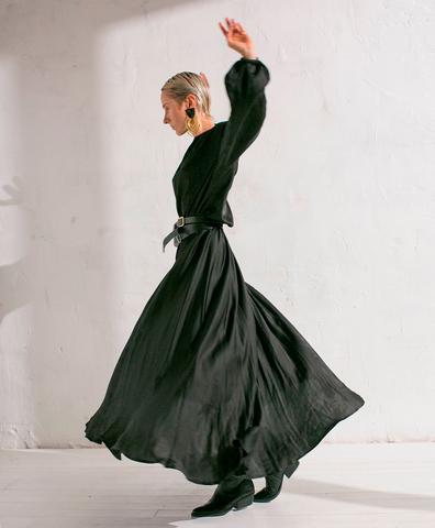 Платье на кулиске black