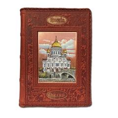 Ежедневник кожаный в стиле 19 века с гравюрой