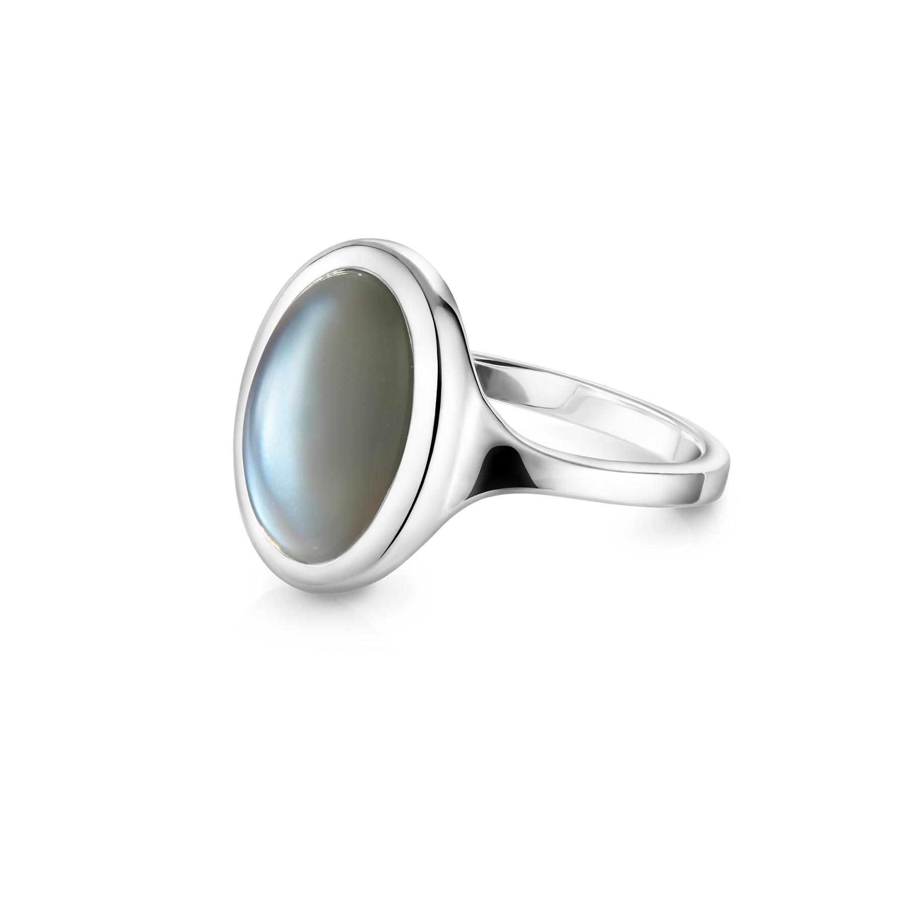 Кольцо OMEGA - Серый лунный камень