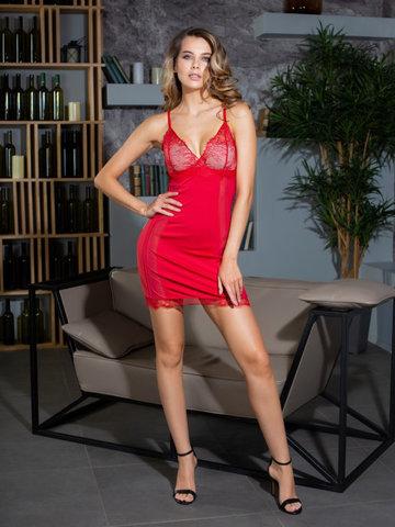 Сорочка с кружевом  MIA-MIA Elegance ЭЛЕГАНС Леди в красном 12021