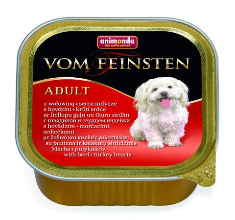 Консервы Animonda Vom Feinsten Adult с говядиной и сердцем индейки для взрослых собак