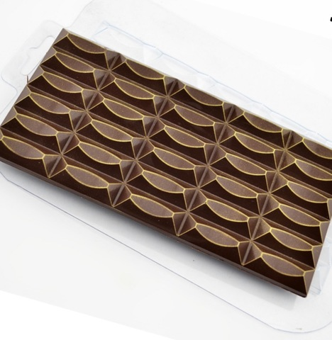 Пластиковая форма для шоколада ср. ПЛИТКА УЗОР №30 (85х170мм)