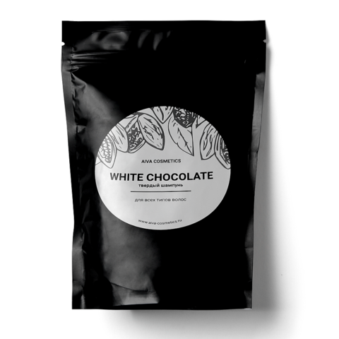AIVA WHITE CHOCOLATE\твердый шампунь\упаковка эконом, 50 гр