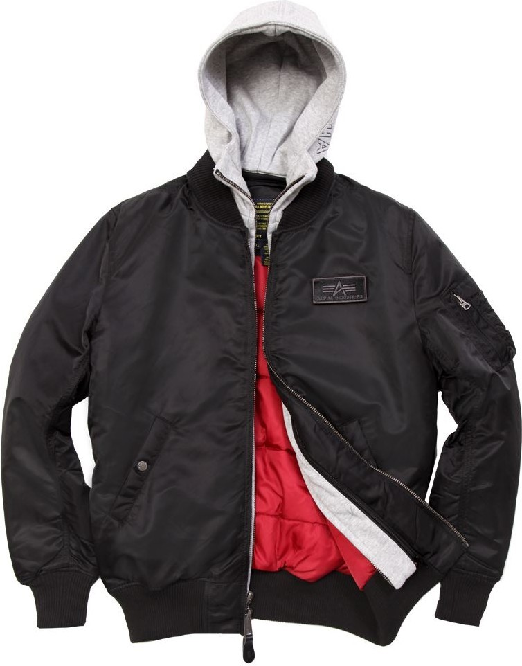 Куртка Бомбер - MA-1 D-TEC Alpha (черная - black)