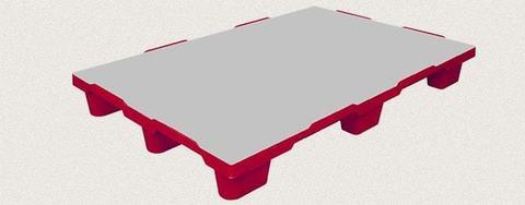 Поддон пластиковый сплошной 1200x800x150 мм. Цвет: Красный