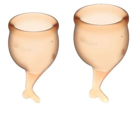 Набор оранжевых менструальных чаш Feel secure Menstrual Cup