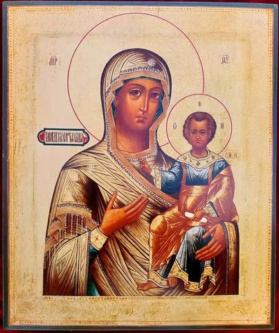 Икона Богородицы Смоленская Одигитрия на дереве на левкасе мастерская Иконный Дом