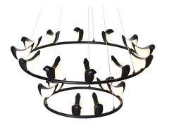 люстра Creative Bird Chandelier 12+6R