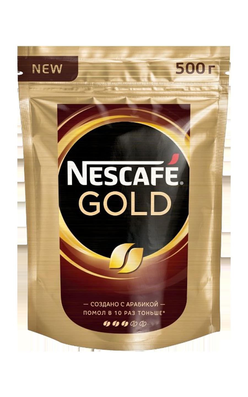Кофе растворимый Nescafe Gold, пакет, 500 г