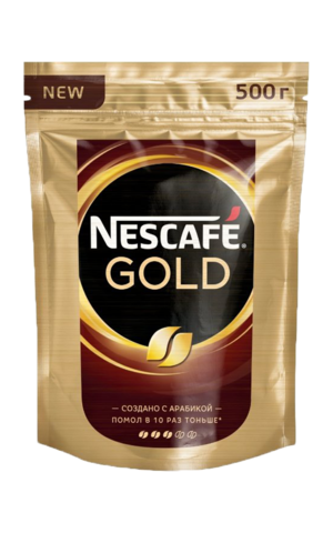 Кофе растворимый Nescafe Gold, пакет 500 г
