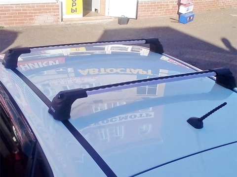 Багажник Turtle Air3 Silver в штатные места ( серебристый цвет)