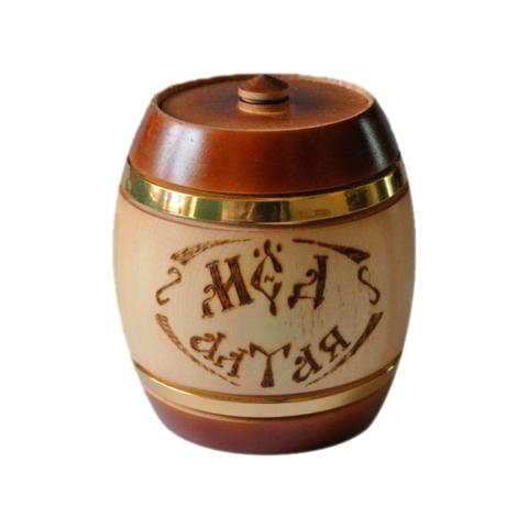 Мёд натуральный «Подсолнечниковый» деревянный бочонок, 500 гр