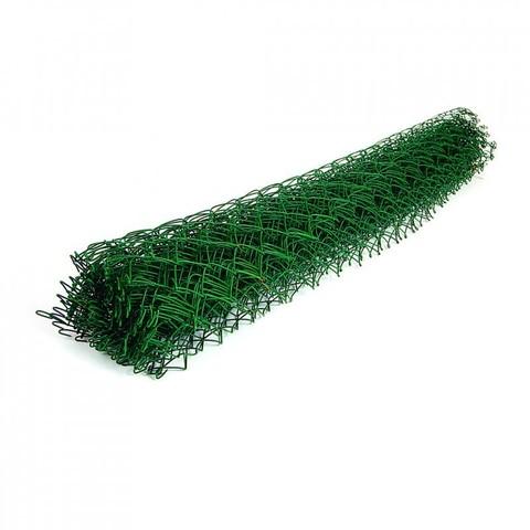 Сетка рабица ПВХ зеленый ячейка 50х50/55х55мм (1,5х10м)рул