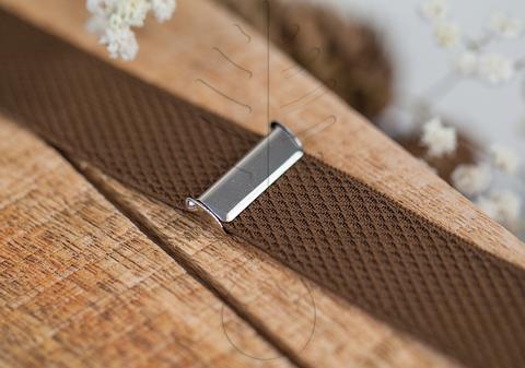 Регулировочный зажим для подтяжек никель, 25 мм