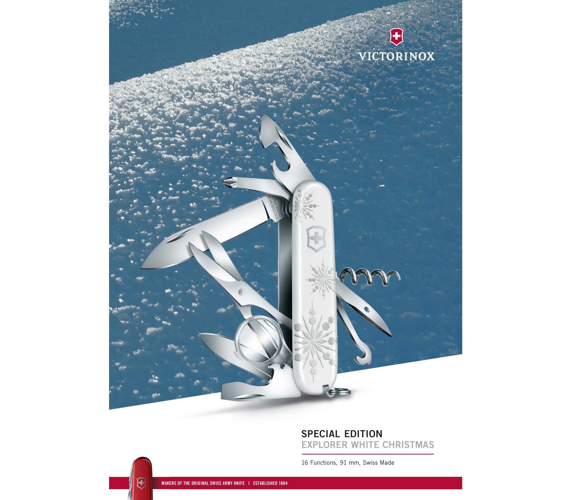 Складной нож Victorinox Explorer White Christmas Special Edition (1.6703.77) - Wenger-Victorinox.Ru