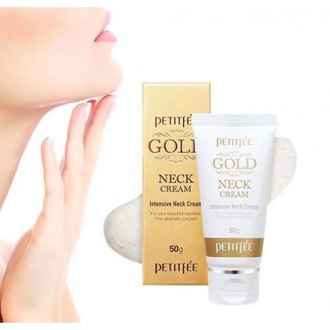 Petitfee Gold Intensive Neck Cream крем для шеи антивозрастной