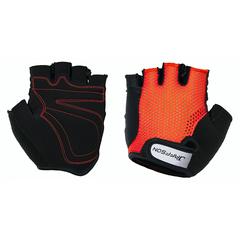 Велоперчатки JAFFSON SCG 46-0398 (чёрный/красный)