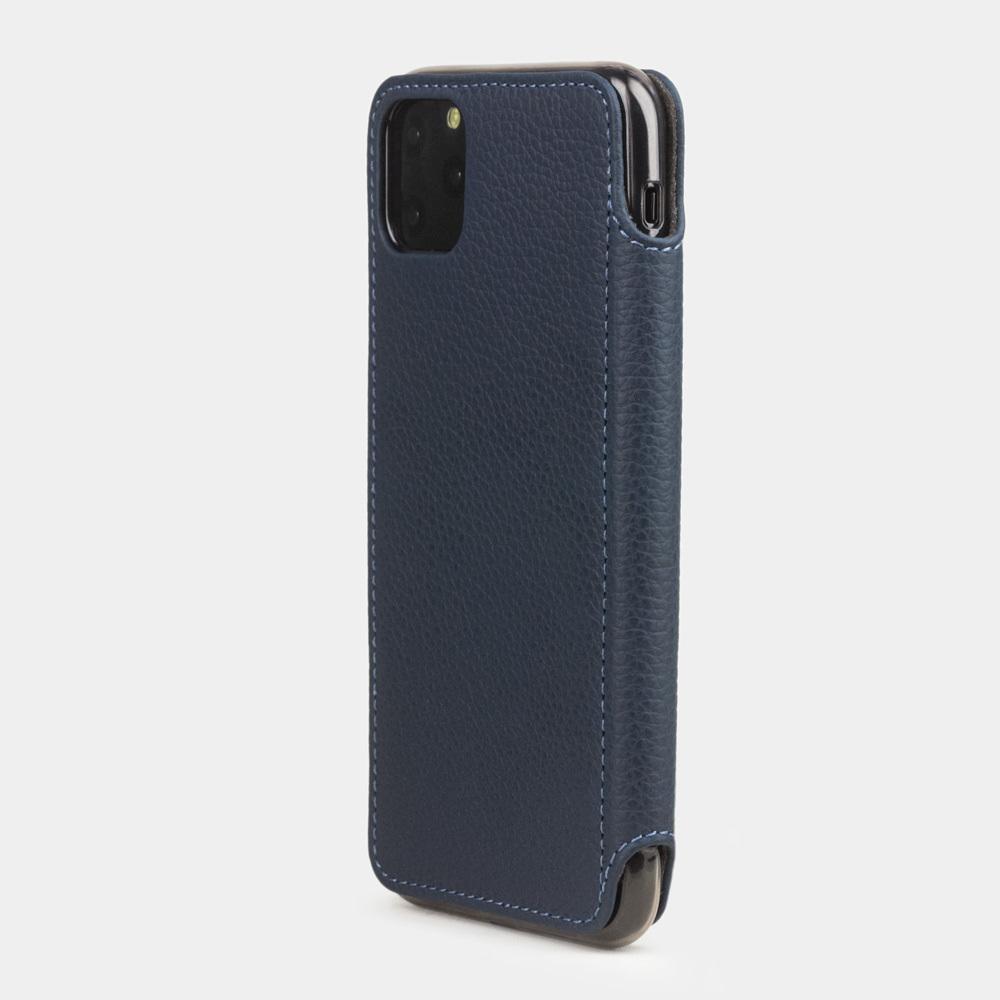 Чехол Benoit для iPhone 11 Pro Max из натуральной кожи теленка, цвета синий мат