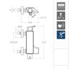 Смеситель для ванны с каскадным изливом и душевым комплектом URBAN CHIC 210501K3 - фото №3