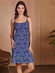 Vivamama. Сорочка для беременных и кормящих Victory, джинс вид 1