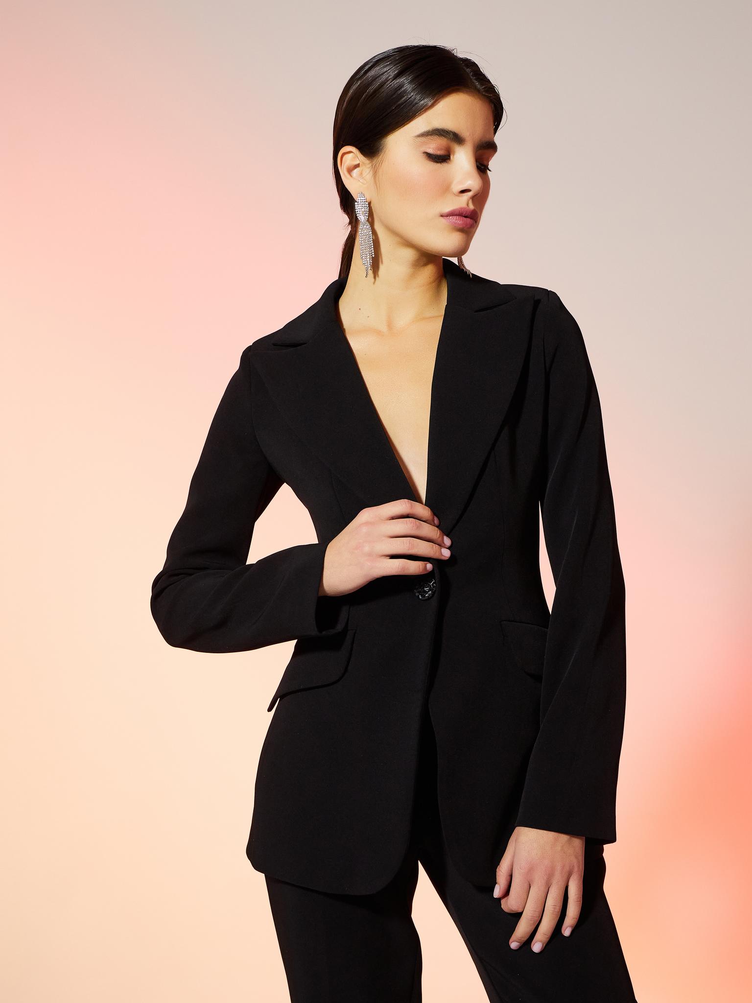 Пиджак классический приталенный (черный)