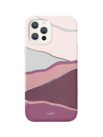 Чехол Uniq COEHL для iPhone 12 Pro Max | принт розовый микрофибра
