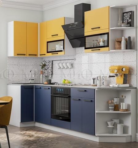 Кухня Угловая Техно NEW 0,9-2,7 м №3