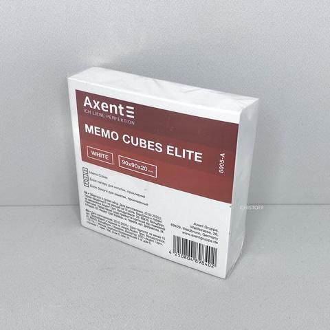 Листки для записей Axent проклеенные 90х90 мм (200 л.) белые