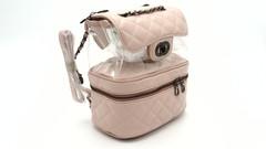 Розовый рюкзак с прозрачным карманом