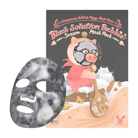 Elizavecca Witch Piggy Hell Pore black solution bubble serum mask pack