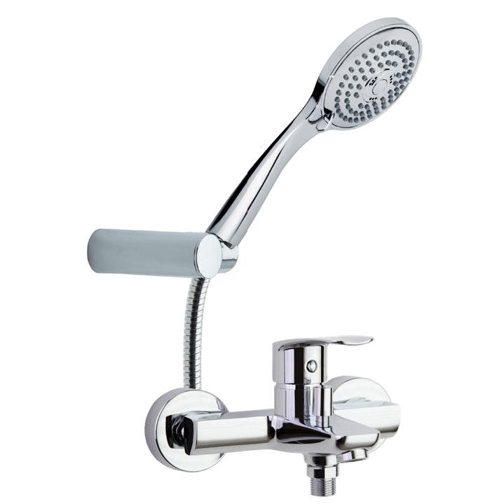Смеситель для ванны с изливом и душевым комплектом NEW FLY 570502T3