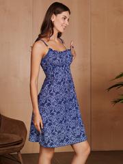 Vivamama. Сорочка для беременных и кормящих Victory, джинс вид 3